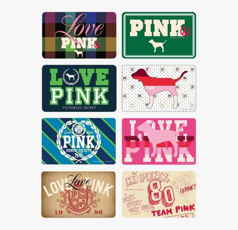 5042196b579cf Pink Gift Cards - Victoria's Secret Pink Gift Cards PNG Image ...