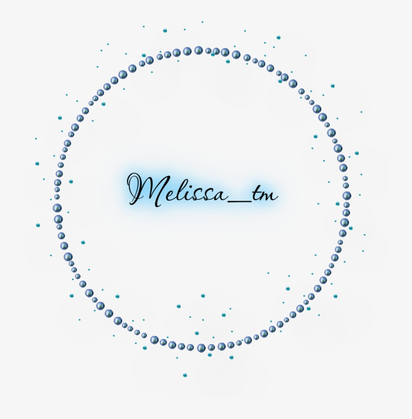 Blue Pearls Frame With Gems Png By Melissa Tm Stickers De Princess
