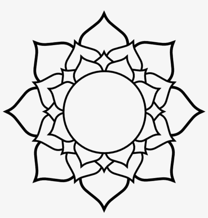 Mandala Clipart Western , Easy To Trace Flowers PNG Image