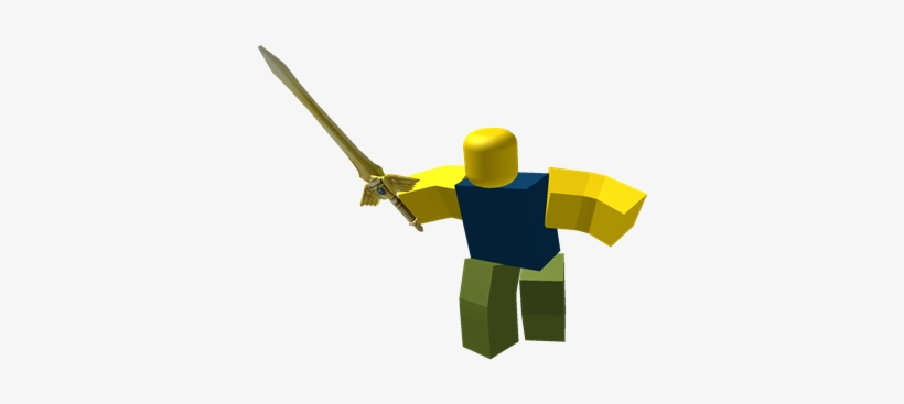 Noob Attack- Golden Sword Gladiator - Roblox Noob With Sword PNG