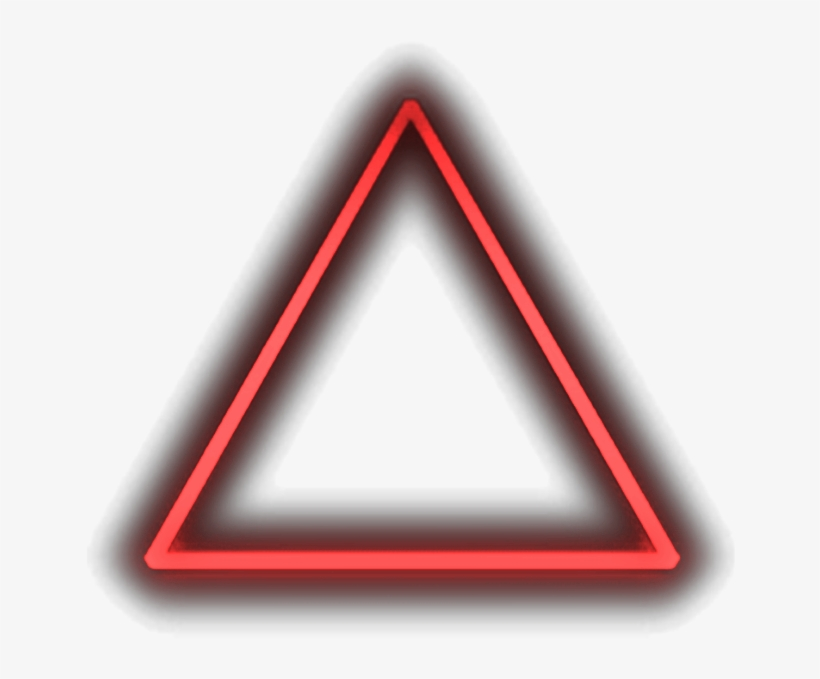 Neon Triangle Png - Laser Triangle Png PNG Image