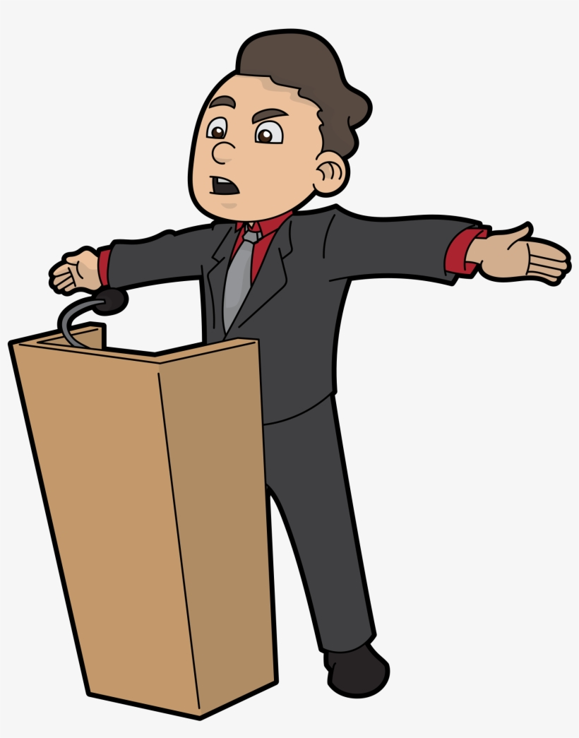 Open Public Speaking Cartoon Png Png Image Transparent Png Free Download On Seekpng