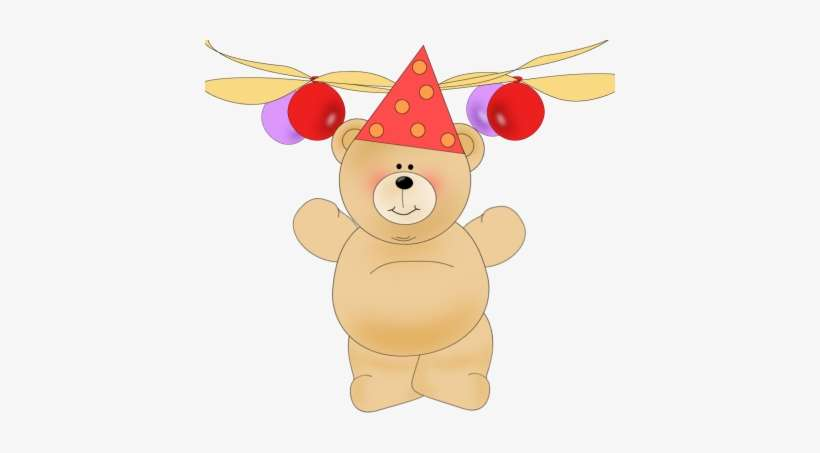 Bear birthday. Party clip art png