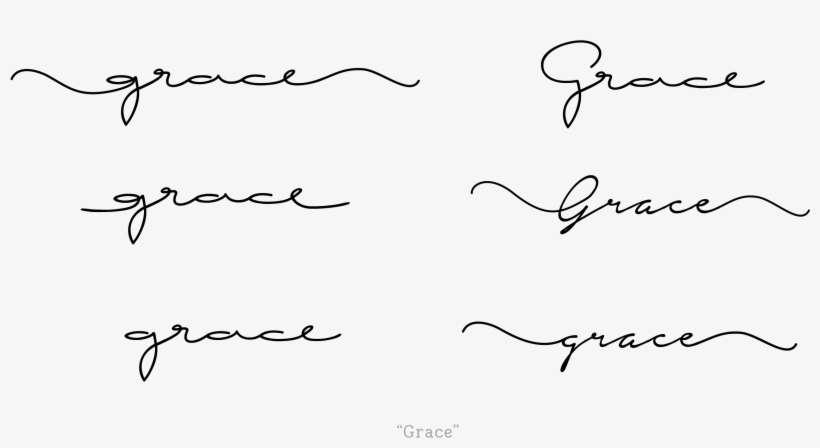 61467fe8a Handwritten Cursive Font - Long Cursive Font Tattoo PNG Image ...