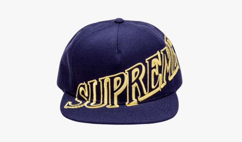 09da75d1ebc17 In Stock Supreme Slant Snapback Hat - Supreme Overlap 5 Panel One Size Red  Su0033