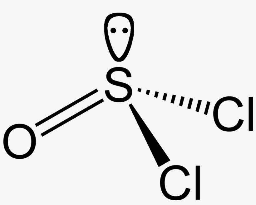 Thionyl Chloride With Lone Pair Shown 2d Estructura De