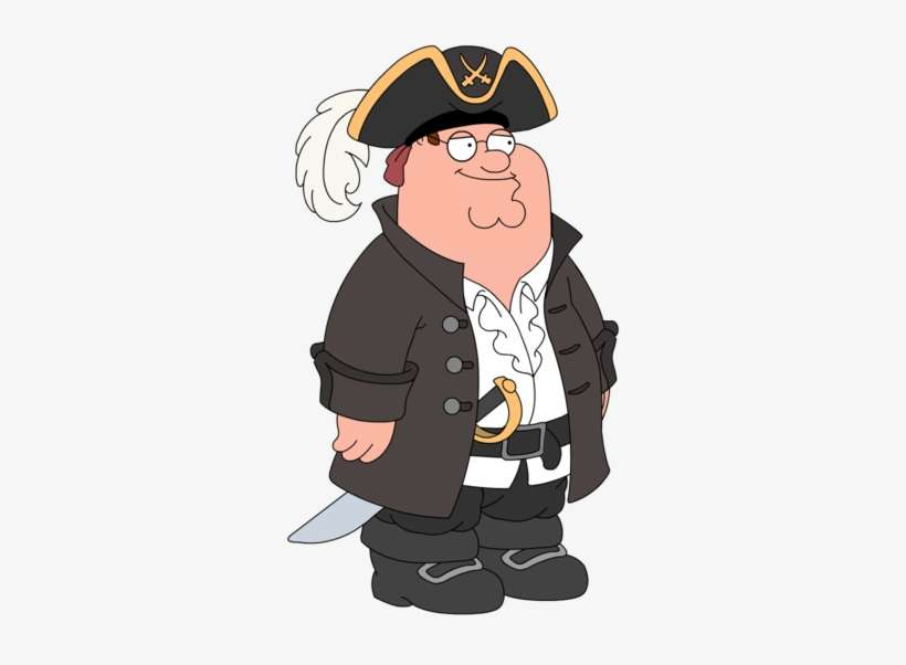 Peter - Pirate - Long John Peter Family Guy@seekpng.com