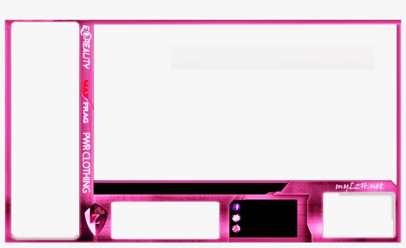 Blue Facecam Border Template Bing Images Free Pink Twitch Overlay