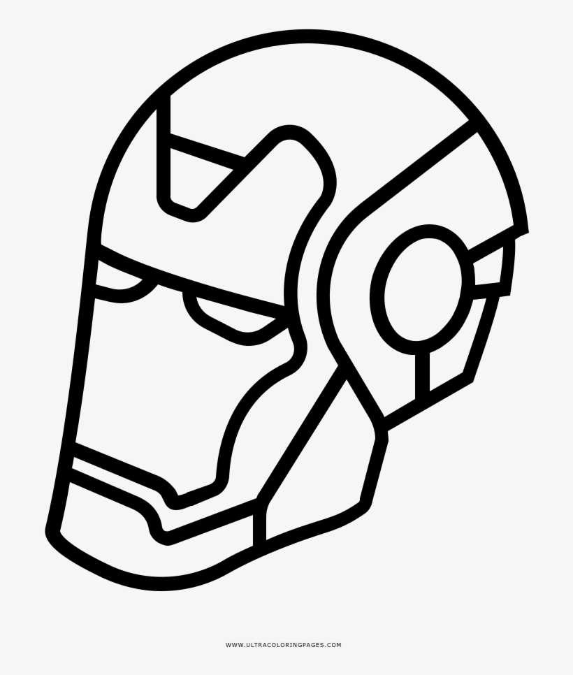 Iron Man Mask Coloring Page   Dibujos De Iron Man Blanco Y Negro ...
