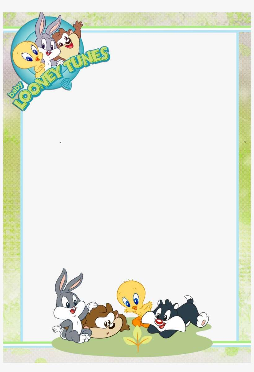 Baby Looney Tunes Baby Shower Invitation Templates Looney Toons