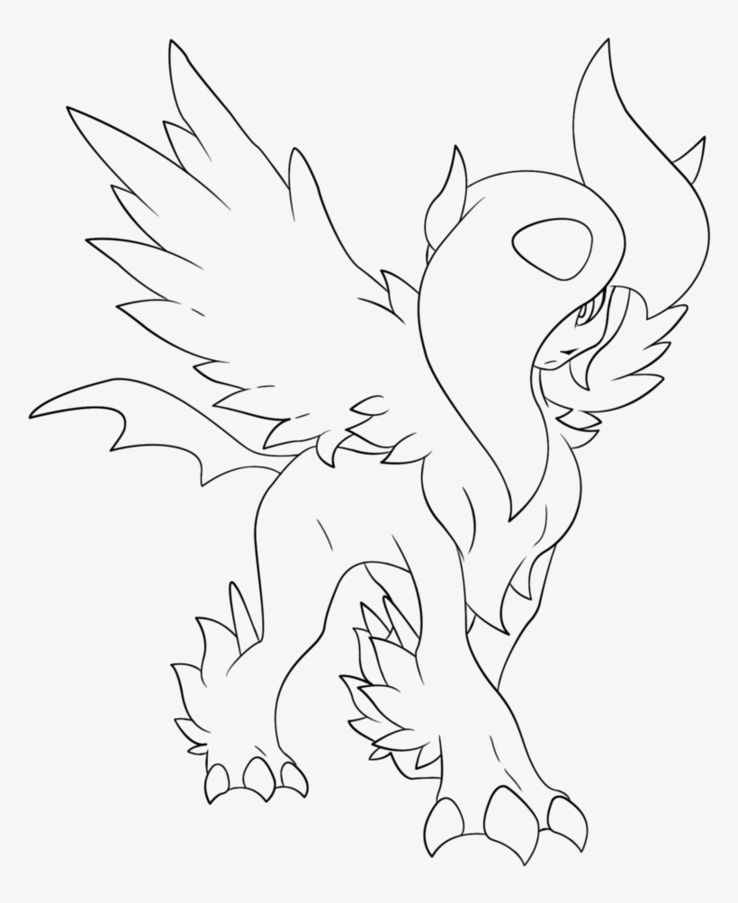 Pokemon X And Y Mega Coloring Pages - Line Art PNG Image ...