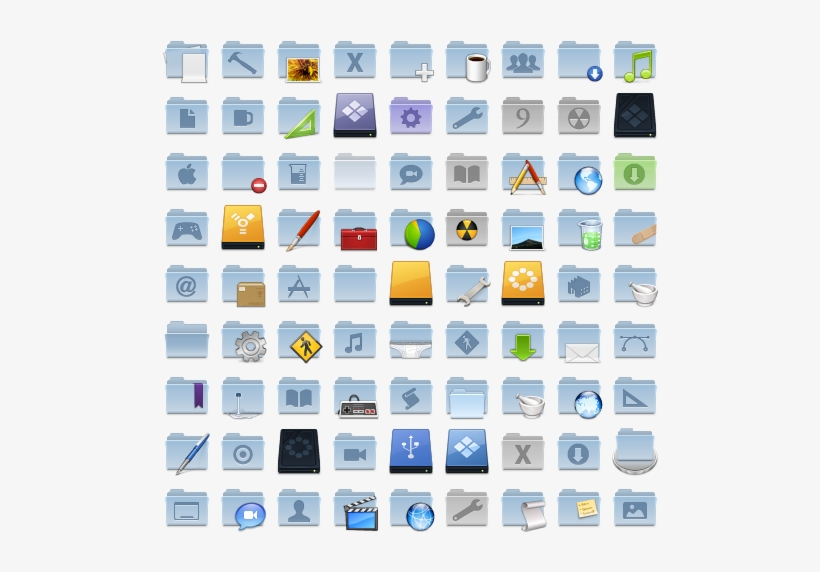 Search - Mac Os X Folder Icons PNG Image | Transparent PNG