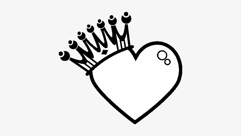 Heart With Crown Coloring Page Dibujos Para Dibujar Corazones Png