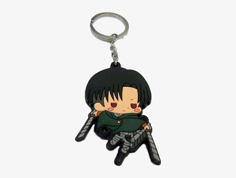 Attack On Titan Chibi Levi Keychain Anime Keychain Png Png Image Transparent Png Free Download On Seekpng