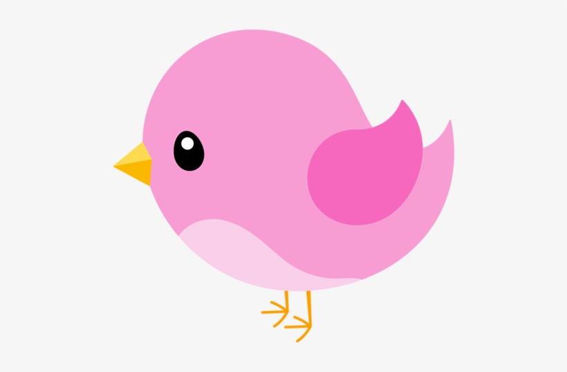 Birds pink. Bird clipart party applique