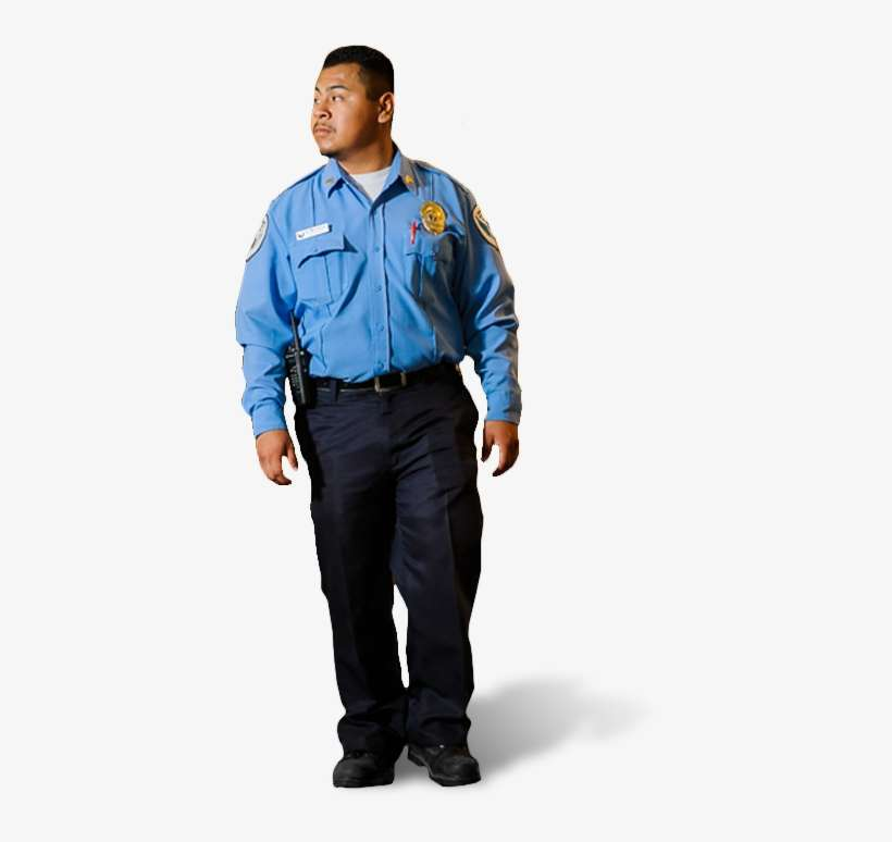 Guard Transparent Png - Uniform Of Security Guard Blue PNG Image