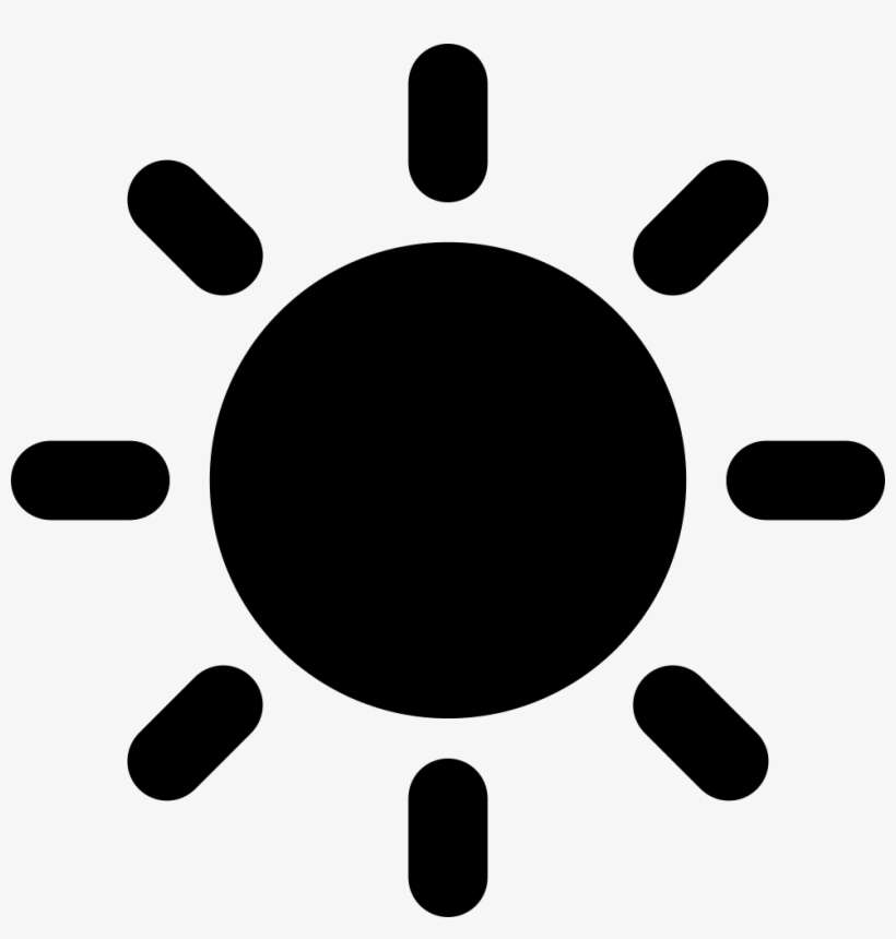 Png File - Black Sun Icon, transparent png download