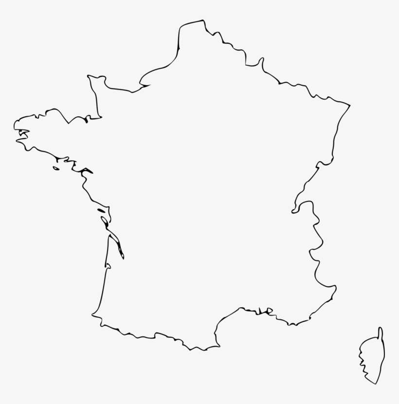 Map Of France Drawing.Flag Of France Blank Map Drawing Outline Of France Png Image