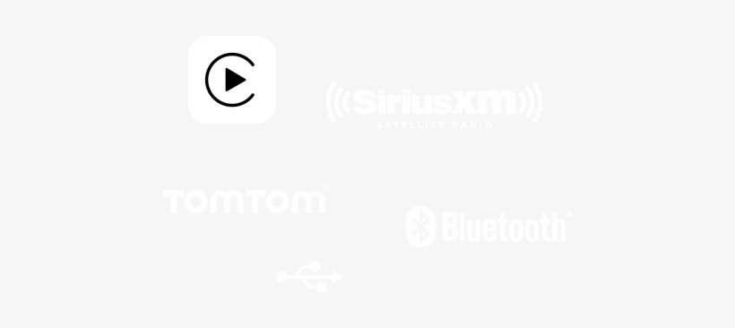 Apple Carplay Logo, Sirius Xm Radio Logo, Tomtom Logo, - Neoplex