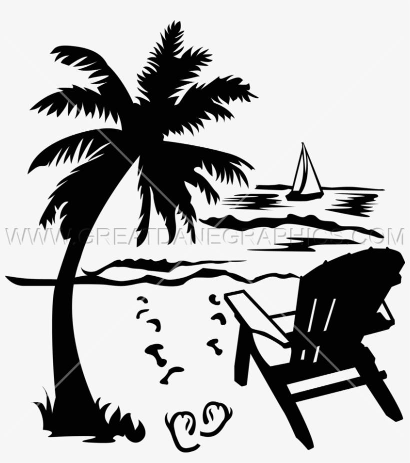 Palm Tree Clipart Beach Chair