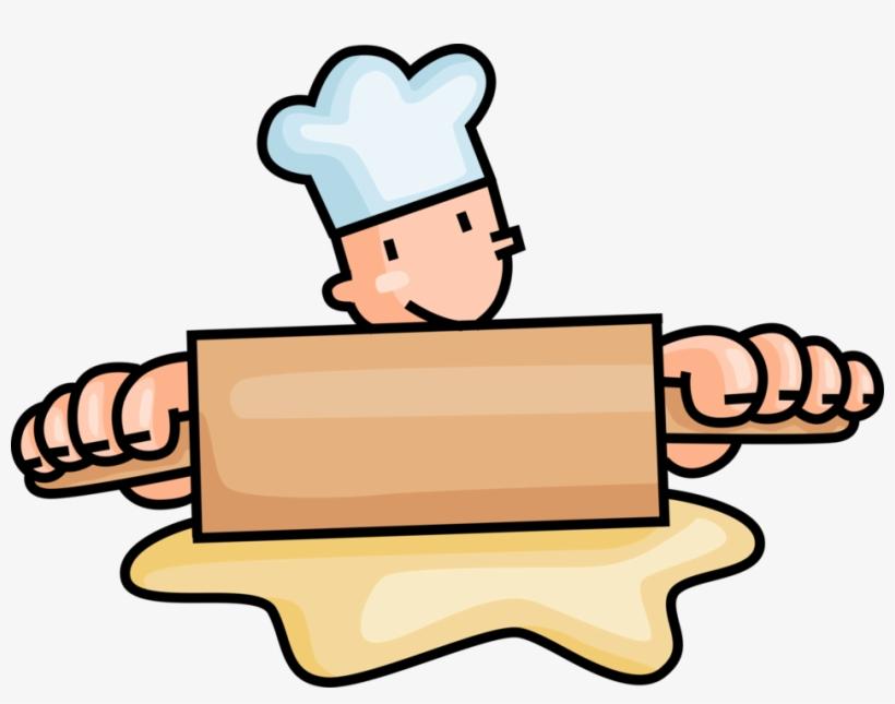 Baker Clipart Rolling Pin - Cartoon Baker@seekpng.com