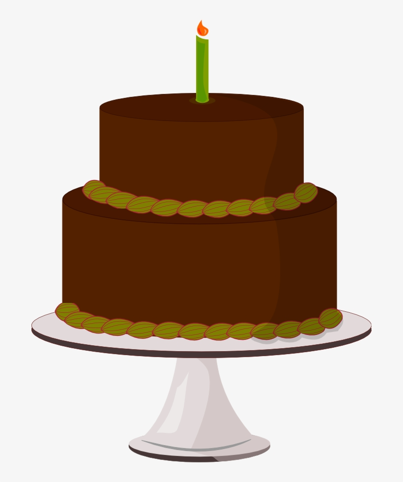 Chocolate Cake Slice Clipart Birthday Cake On Table Png Png Image