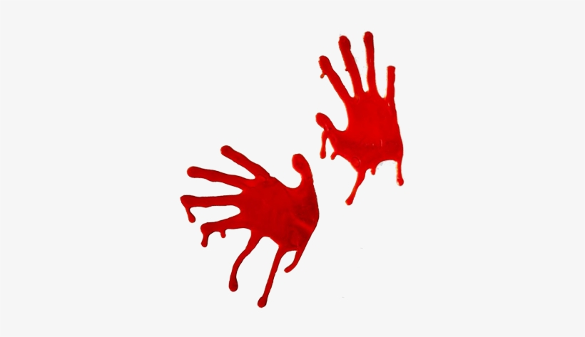 Bloody Zombie Hand Prints For Halloween - Halloween Hands