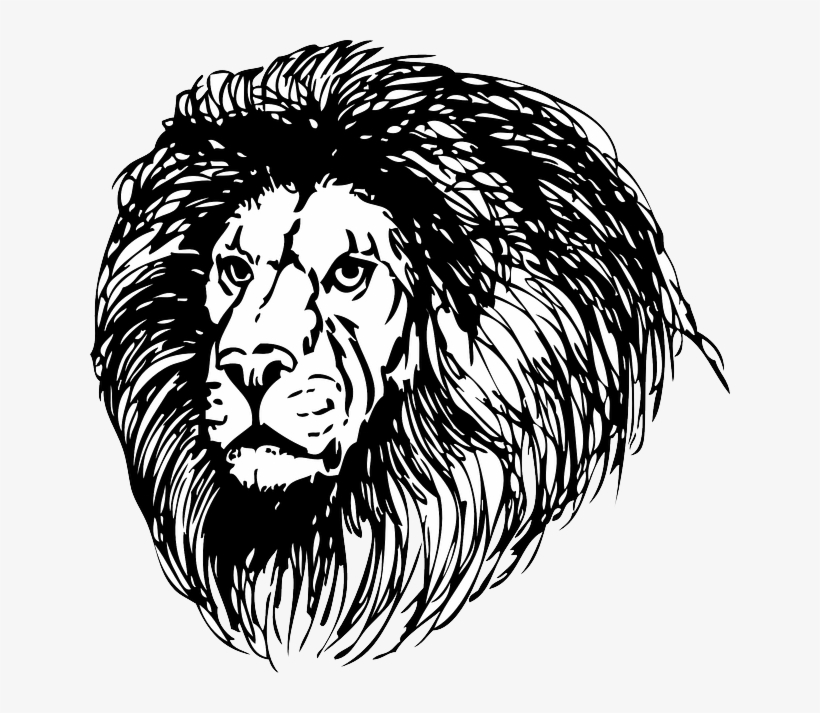 Lion Lionhead Cat Head Black Tribal Outline Mane Clipart Black And White Png Image Transparent Png Free Download On Seekpng Free eagle head clip art images. lion lionhead cat head black