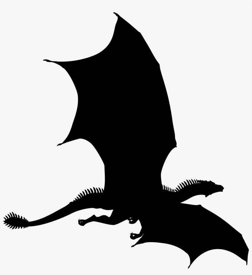 Big Image Flying Dragon Silhouette Png Png Image Transparent Png Free Download On Seekpng