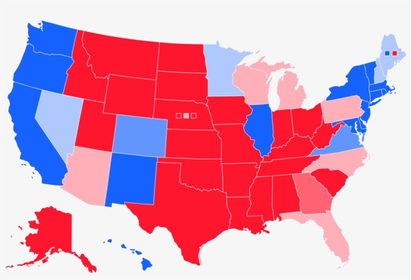 Map Of Swing States In Us Presidential Elections - States With ...
