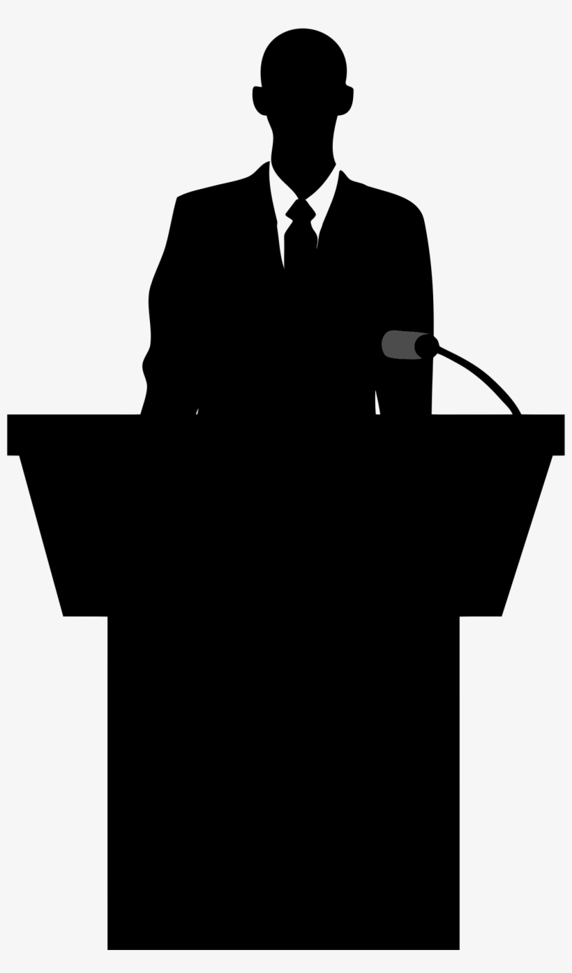 People Clip Art Free Silhouette Huge Freebie Download Public Speaking Silhouette Png Png Image Transparent Png Free Download On Seekpng