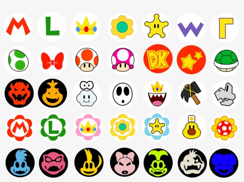 Mario Kart Character Logo Super Mario Bros All Character Png