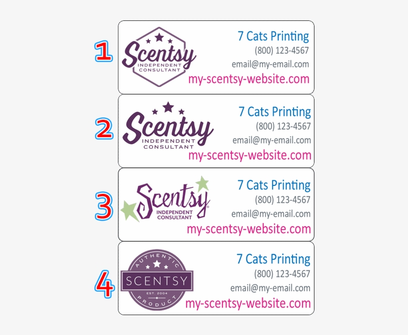 Ac 952 Personalized address labels Scentsy consultant