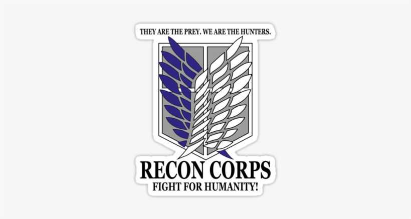 Recon Corps Logo Attack On Titan Scout Wings Png Image Transparent Png Free Download On Seekpng