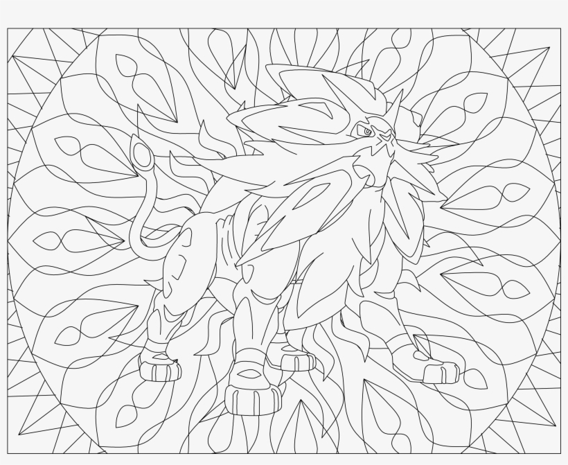 Pokemon Sun And Moon Coloring Pages Pokemon Gx Coloring Page Png Image Transparent Png Free Download On Seekpng