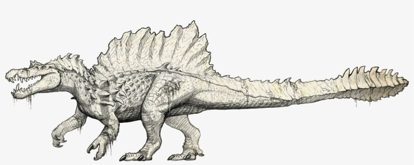 Bagel Drawing Clip Art - Hypo Spinosaurus The Isle PNG Image