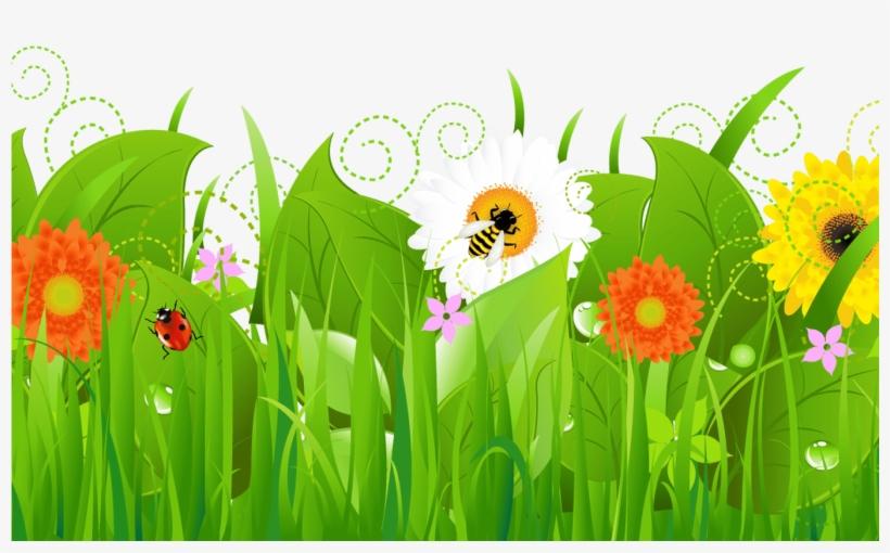 Spring Flower Border Clip Art Gardening Flower And Flower Garden Clipart Png Png Image Transparent Png Free Download On Seekpng
