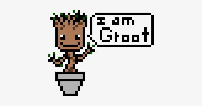 Baby Groot Baby Groot Pixel Art Png Image Transparent