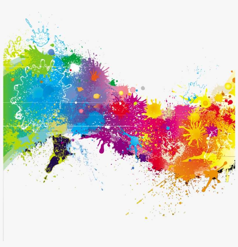 Transparent Stock Splash Transparent Rainbow Paint - Rainbow Paint