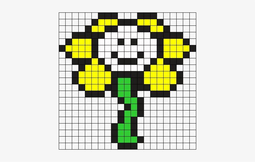 Flowey The Flower Perler Bead Pattern Bead Sprite