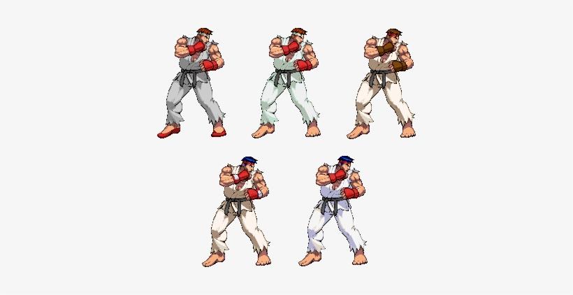Ryu In Sprites From Stret Fighter Sfv Ryu Third Strike Sprites