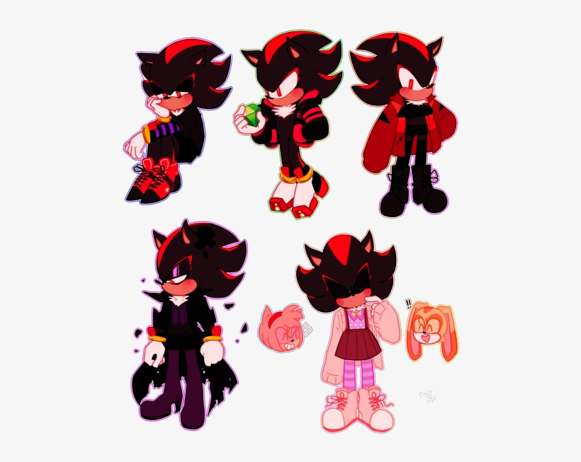 Shadow Is Fashionable Too Sonic The Hedgehog Outfits Png Image Transparent Png Free Download On Seekpng
