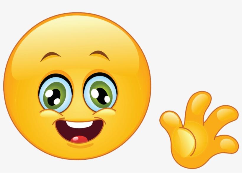 Hello Emoji Hello Emoji - Smiley Face Waving Goodbye@seekpng.com