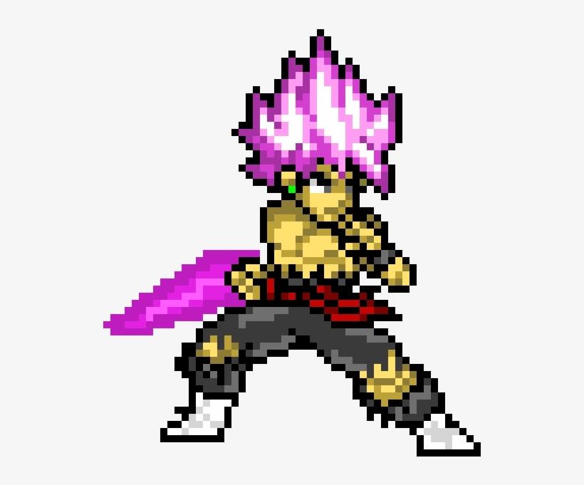 Goku Black Rose Goku Ssj Pixel Art Png Image Transparent