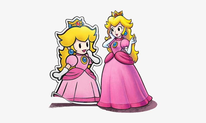 Princess Peach Mario Y Luigi Paper Jam Mario Png Image