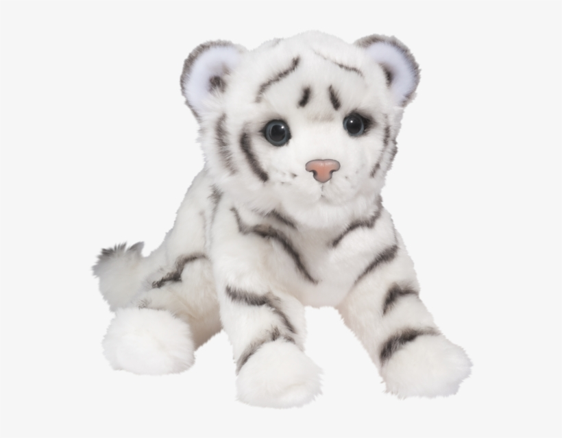 Douglas Silky White Tiger Cub Small White Tiger Stuffed Animal Png Image Transparent Png Free Download On Seekpng