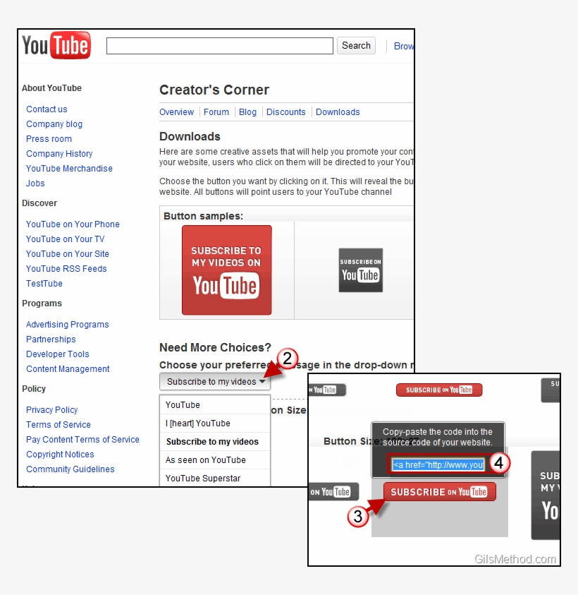 Promote Youtube Channel Buttons - Youtube Promote Button PNG