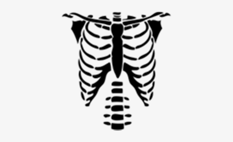 Beautiful Rib Cage Cartoon Skeleton Torso Halloween Roblox T