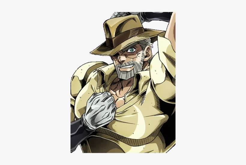 Old Joseph Joestar Anime Jojo Part 3 Joseph Png Image Transparent Png Free Download On Seekpng