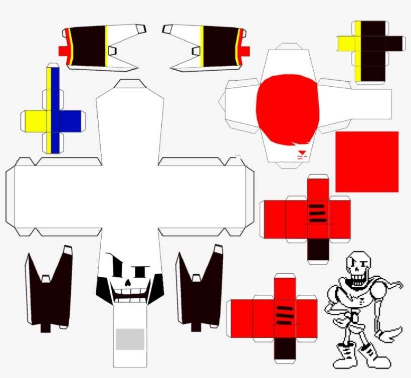 Undertale Papyrus Papercraft By Ljthesonicboy - Papercraft